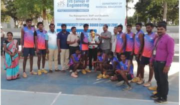 Anna University Zone-10 Volleyball men Runners-2019